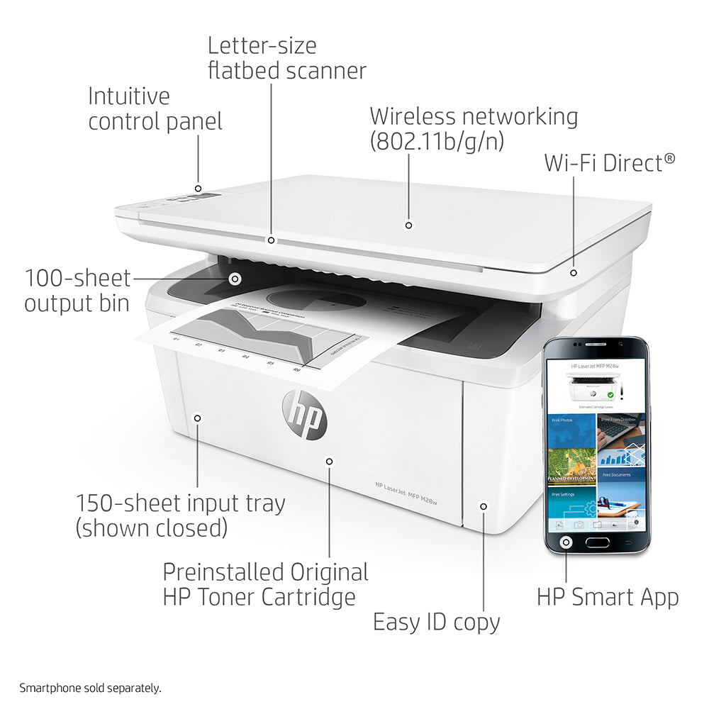 HP Laser Jet Pro MFP M28w Printer | W2G55A