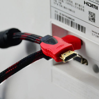 High Definition HDMI Cable 1.5 Meters 1.4B Ethernet Gold - Saudi Arabia