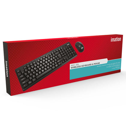 Imation 2.4G Wireless Keyboard and Mouse Combo - WIC 319 - Saudi Arabia