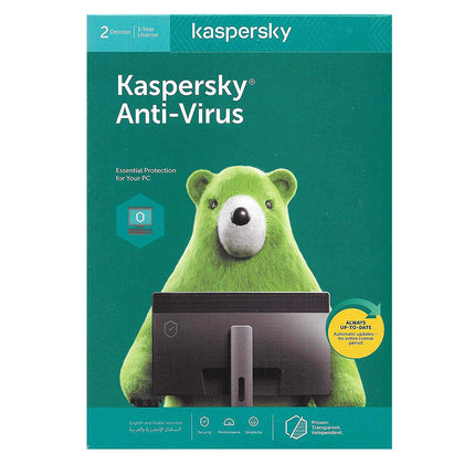 Kaspersky Antivirus 2020 - 2 Users / 1 Year Authentic Middle East Version - Saudi Arabia