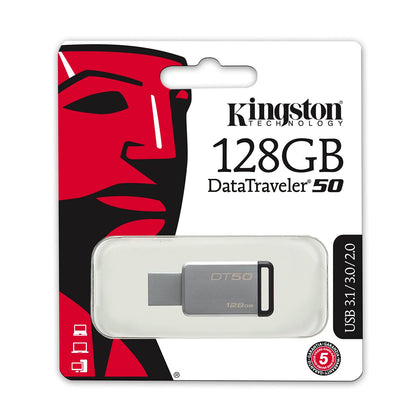 Kingston 128GB Data Traveler USB Flash drive - DT50 - Saudi Arabia