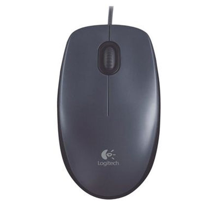 Logitech M100 Optical Wired Mouse, Grey, 910-005004 - Saudi Arabia