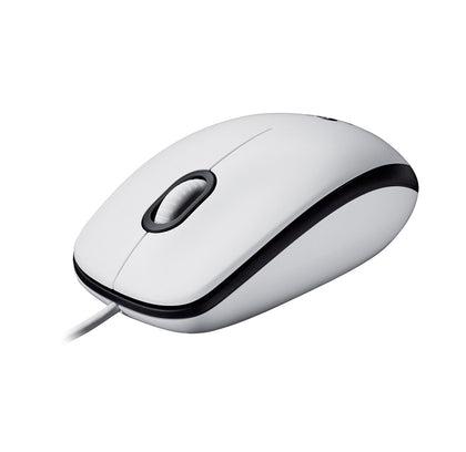 Logitech M100 Optical Wired Mouse, White, 910-005004 - Saudi Arabia