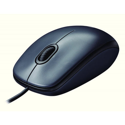 Logitech M90 Optical Wired Mouse - Black - Saudi Arabia
