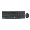 Logitech MK235 Wireless Keyboard and Mouse - Black