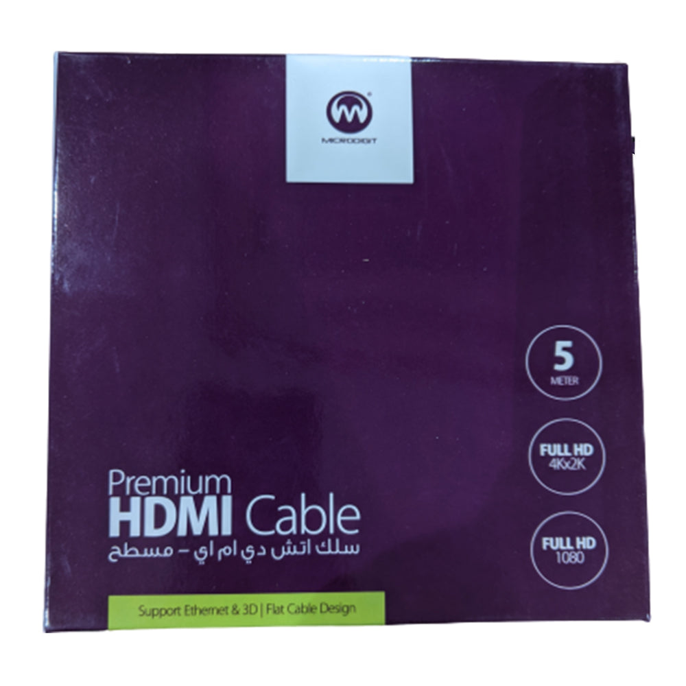 MicroDigit HDMI 5M Cable Flat Design