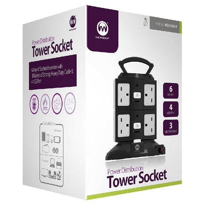Microdigit Power Distribution Tower 6 Socket, MD2634UT - Saudi Arabia
