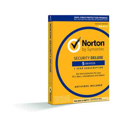 Symantec Norton Antivirus Security Deluxe - 5 Devices, 1 Year - Saudi Arabia