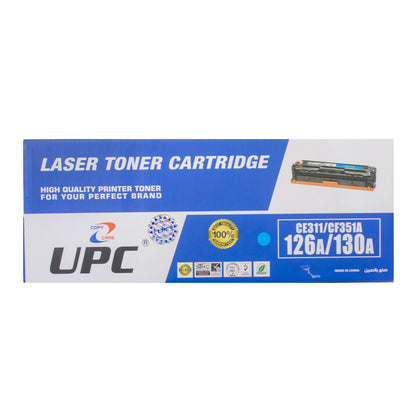 UPC 130A l 126A Compatible Toner Cartridge, Cyan - Saudi Arabia