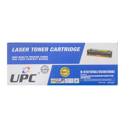 UPC 130A l 126A Compatible Toner Cartridge, Yellow - Saudi Arabia