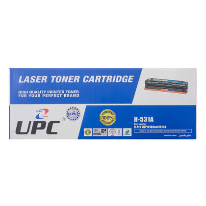 UPC 205A Laser Toner Cartridge Cyan (CF531A) Compatible with HP Laser Printers - Saudi Arabia