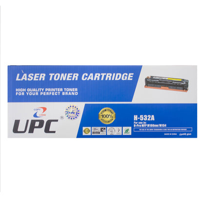 UPC 205A Laser Toner Cartridge Yellow (CF532A) Compatible with HP Laser Printers - Saudi Arabia