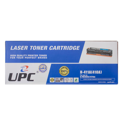 UPC 410A Laser Toner Cartridge Cyan (CF411A) Compatible with HP Laser Printers - Saudi Arabia