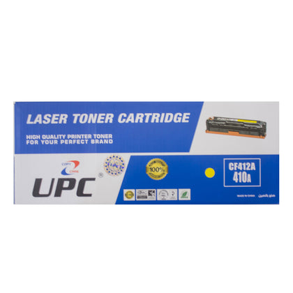 UPC 410A Laser Toner Cartridge Yellow (CF412A) Compatible with HP Laser Printers - Saudi Arabia