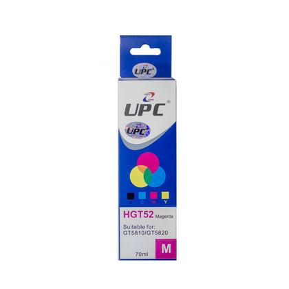 UPC GT52 Magenta Compatible Ink Bottle Replacement HP Laser Printers - Saudi Arabia