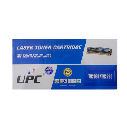 UPC TN2060 l TN2260 Black Laser Toner Compatible with Brother Laser Printers - Saudi Arabia