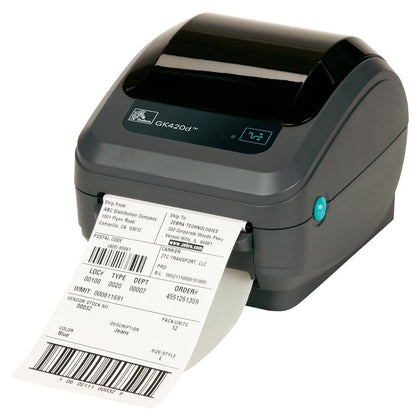 Zebra GK420t - Compact Thermal Transfer Desktop Label Printer - Saudi Arabia