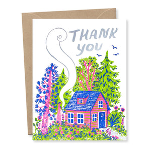 Thank You Cottage Card