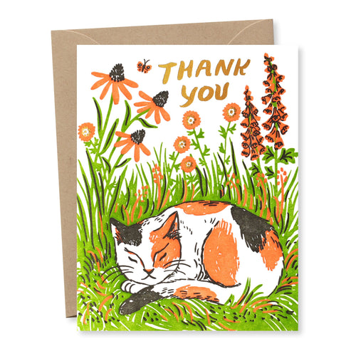 Thank You Kitty Card