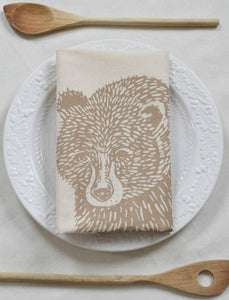 Bear Tea Towel (Brown)