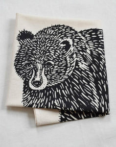 Bear Tea Towel (Black)