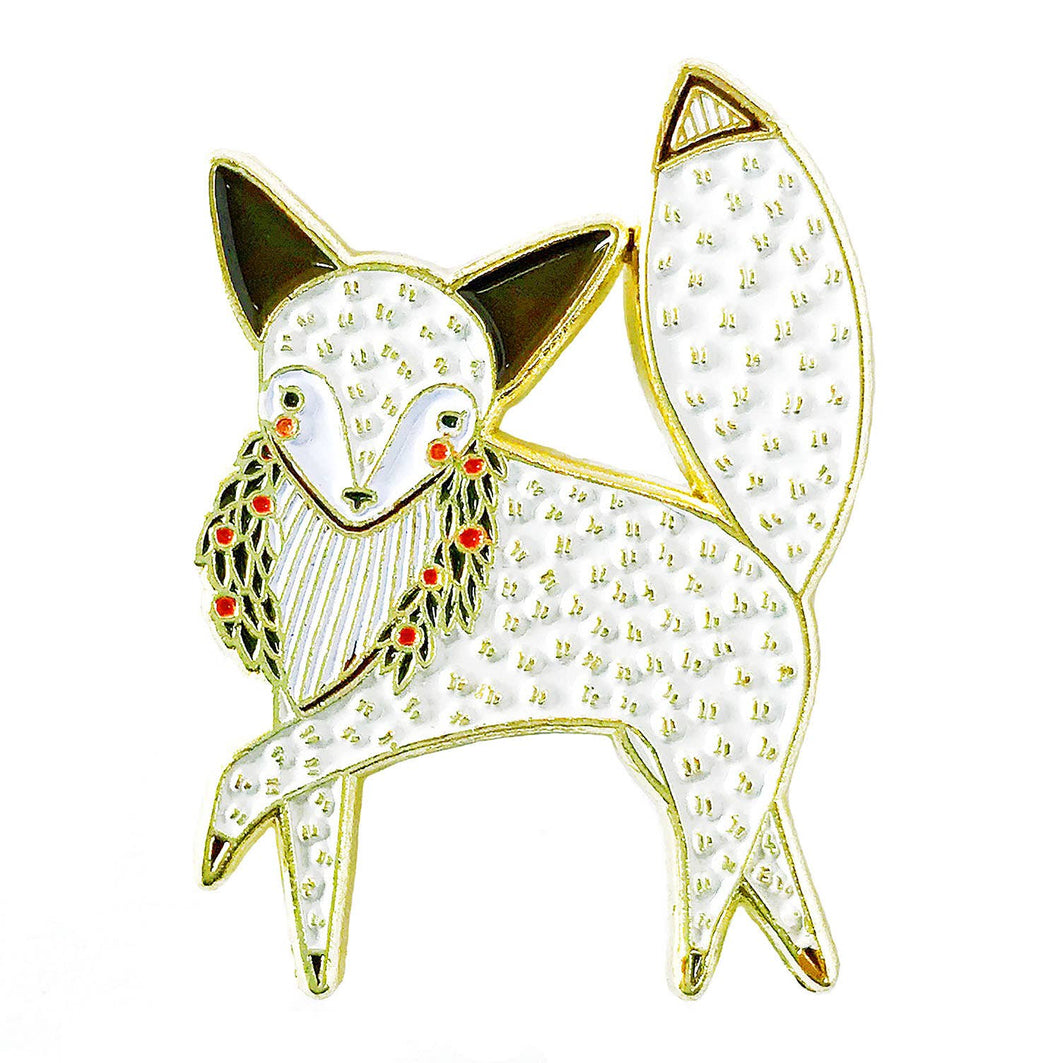 Merriment Arctic Fox Enamel Pin