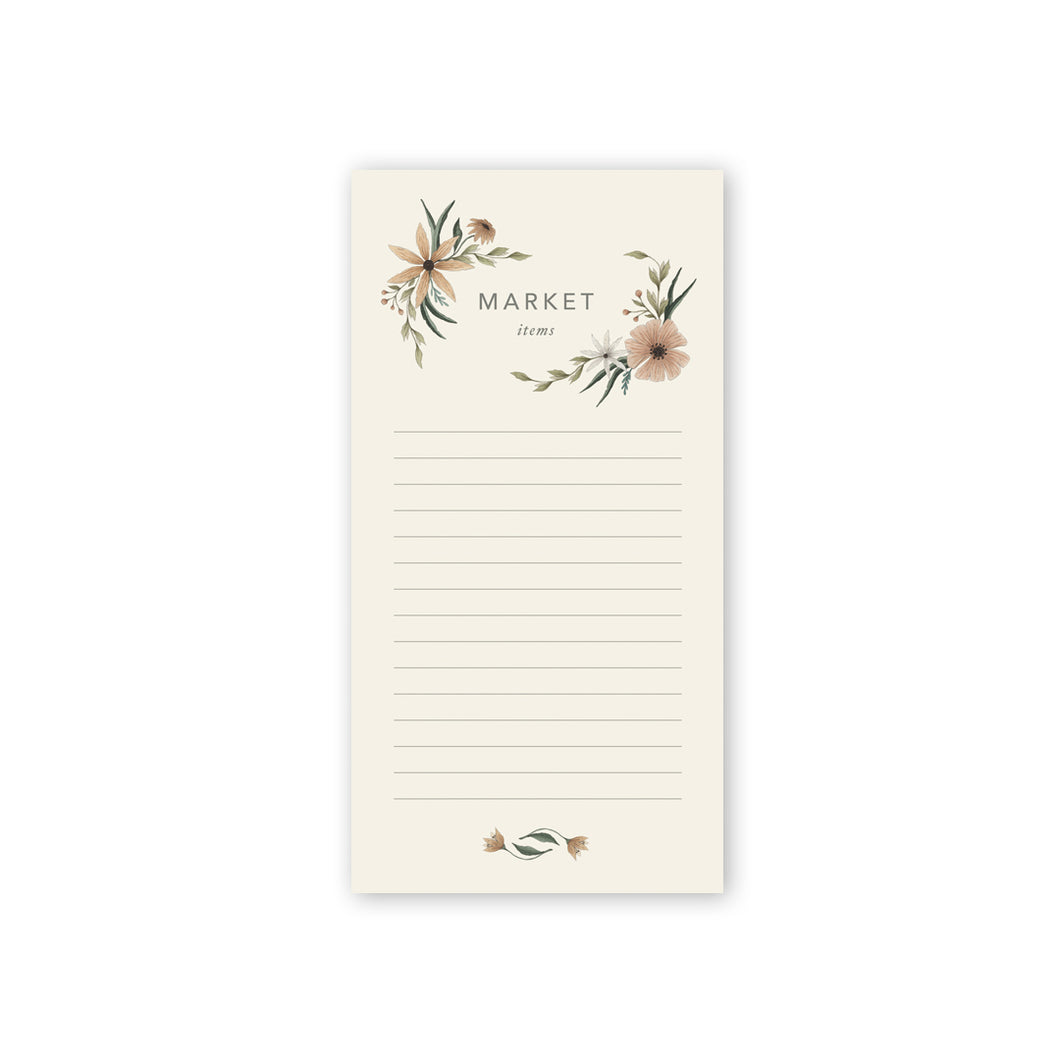 Market Blooms Notepad