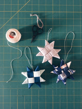 Load image into Gallery viewer, Scandinavian Fabric Star Ornaments Wednesday November 13th