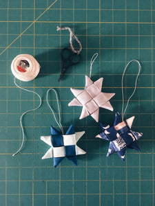Scandinavian Fabric Star Ornaments Wednesday November 13th