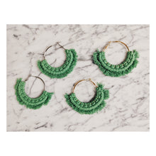 Load image into Gallery viewer, Macrame Fringe Earrings