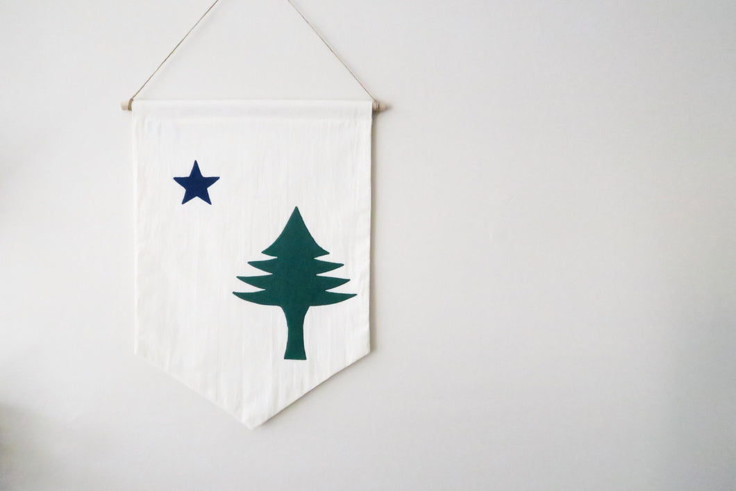 1901 Maine State Flag Banner
