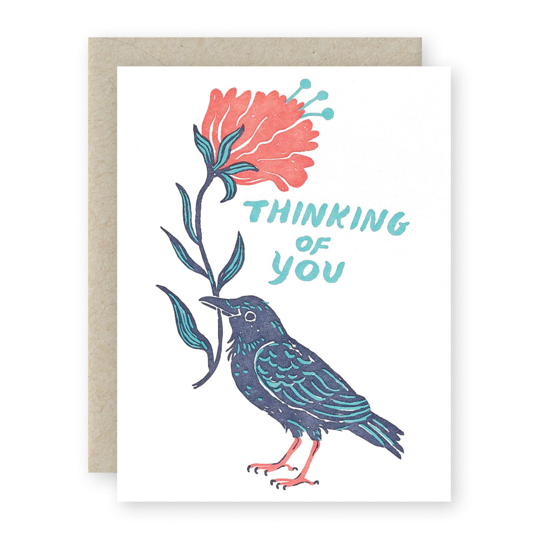 Thinking of You Crow Card