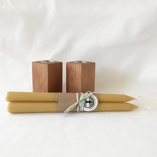 Beeswax Taper Set