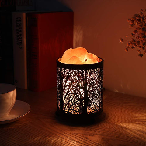 Black Forest Natural  Himalayan Night Light Lamp