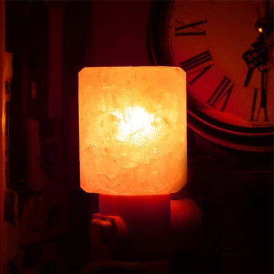 Himalayan Salt Night Lamp Cylinder Shape Plug