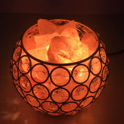 Wired Basket Himalayan Salt Table Lamp