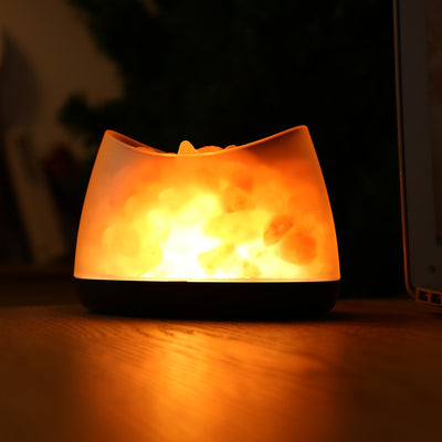 Natural Light Himalayan Salt Basket Lamp