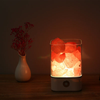 Himalayan Salt Desk Lamp & Air Purifier White