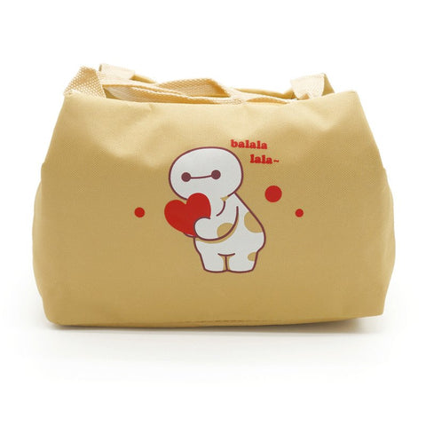 Cute cartoon insulation package large new white modeling lunch bag
