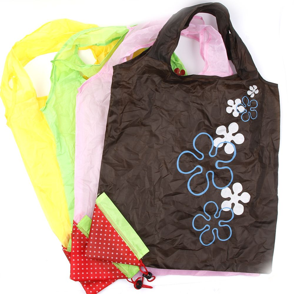4477f8bdc0 Hot Eco Storage Handbag Strawberry Grapes Pineapple Foldable Shopping Bags  Reusable Folding Grocery Nylon Large Bag Random Color