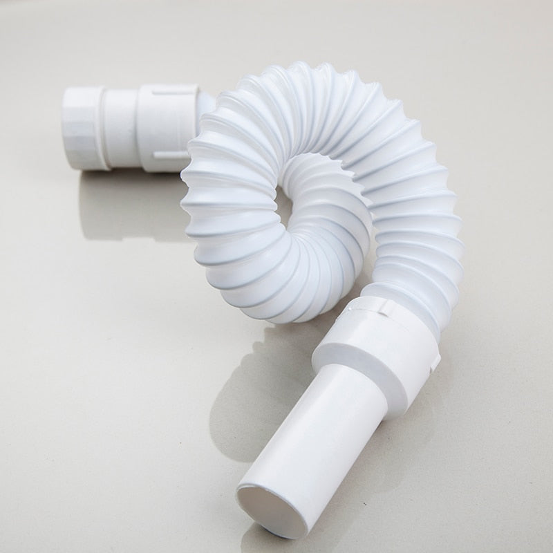 Mnoite Plastic Drain Hose Kitchen Sink Drain Strainer Flexible Waste Water  Plumbing Hose Quality Integrated Bathroom Accessories