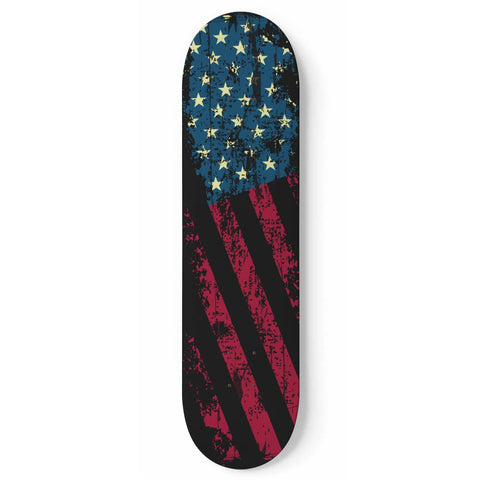 Custom Designed 1 Skateboard Flag Wall Art