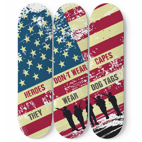 Custom Designed 3 Skateboard Heroes Wall Art