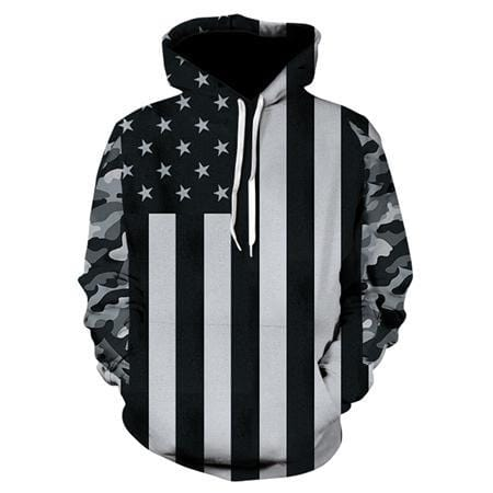 TUNSECHY Brand USA Flag Hoodies Men/women 3D Sweatshirts Print Striped Stars America Flag Hooded Hoodies Tracksuits Pullover