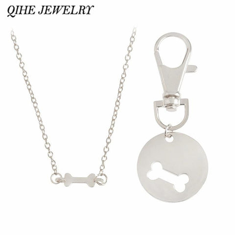 Human Dog Bone Charm Necklace