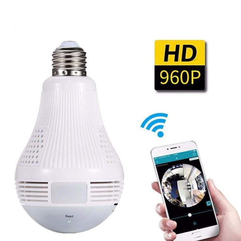 360 Degree Panoramic Light Bulb Camera