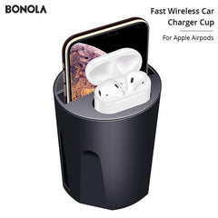 Fast Wireless Car Charger Cup