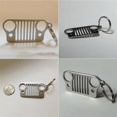 Stainless Steel Grill Key Chain KeyChain Grill Key Ring Unive