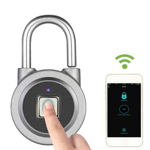 BT Smart Keyless Fingerprint Lock Waterproof AP