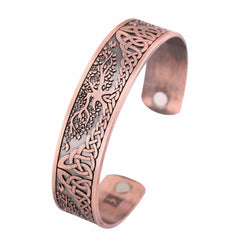 Life Tree Engraved Ankle Bracelet